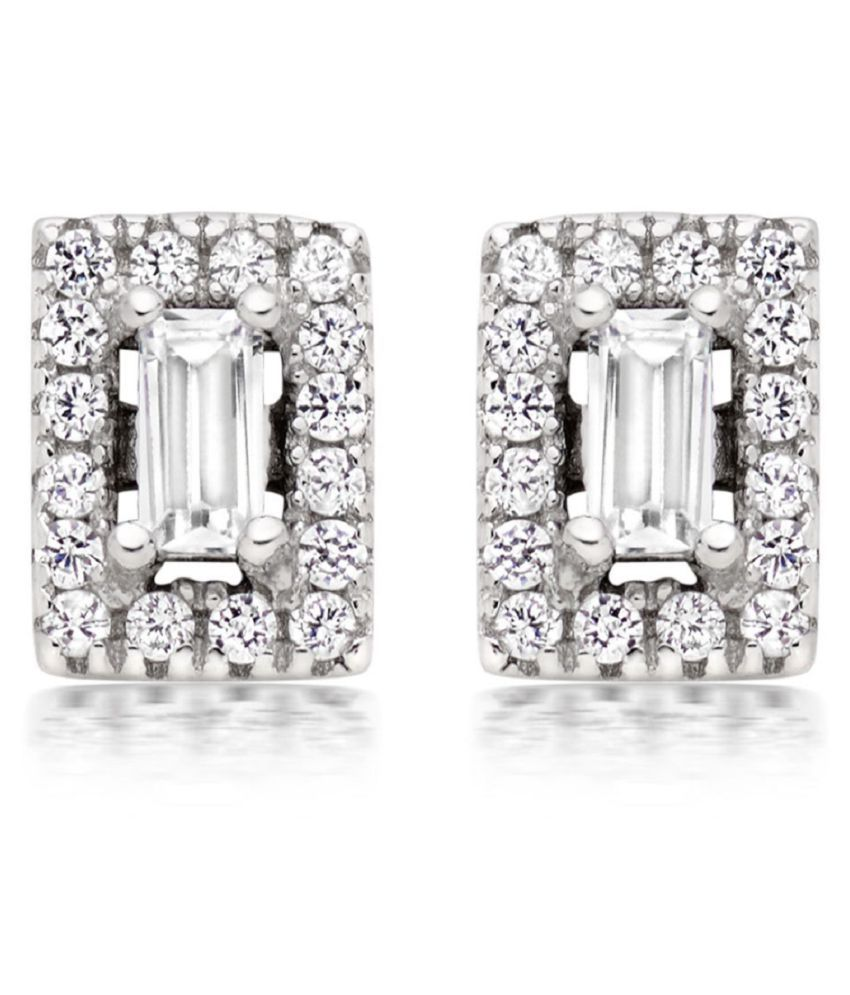 Asset Jewels 92.5 BIS Hallmarked Silver Diamond Studs