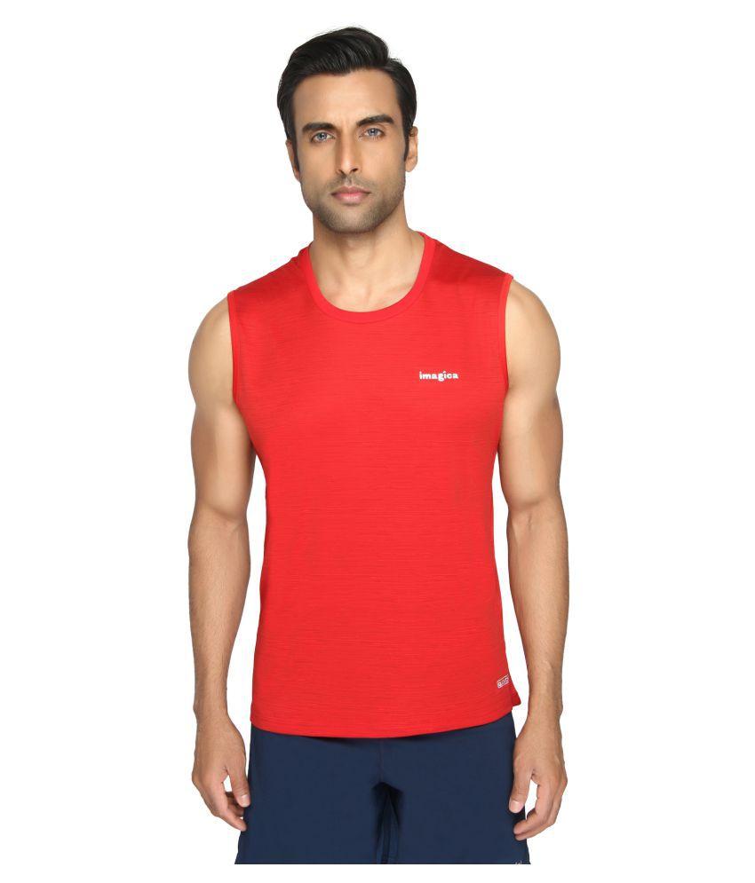 Imagica Red Round T-Shirt