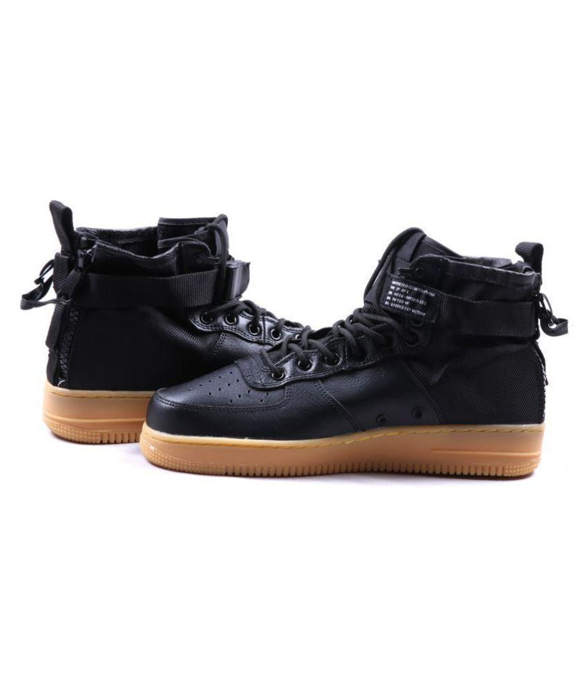 Nike NIKE SF AIRFORCE 1 MID Sneakers Black Casual Shoes ...