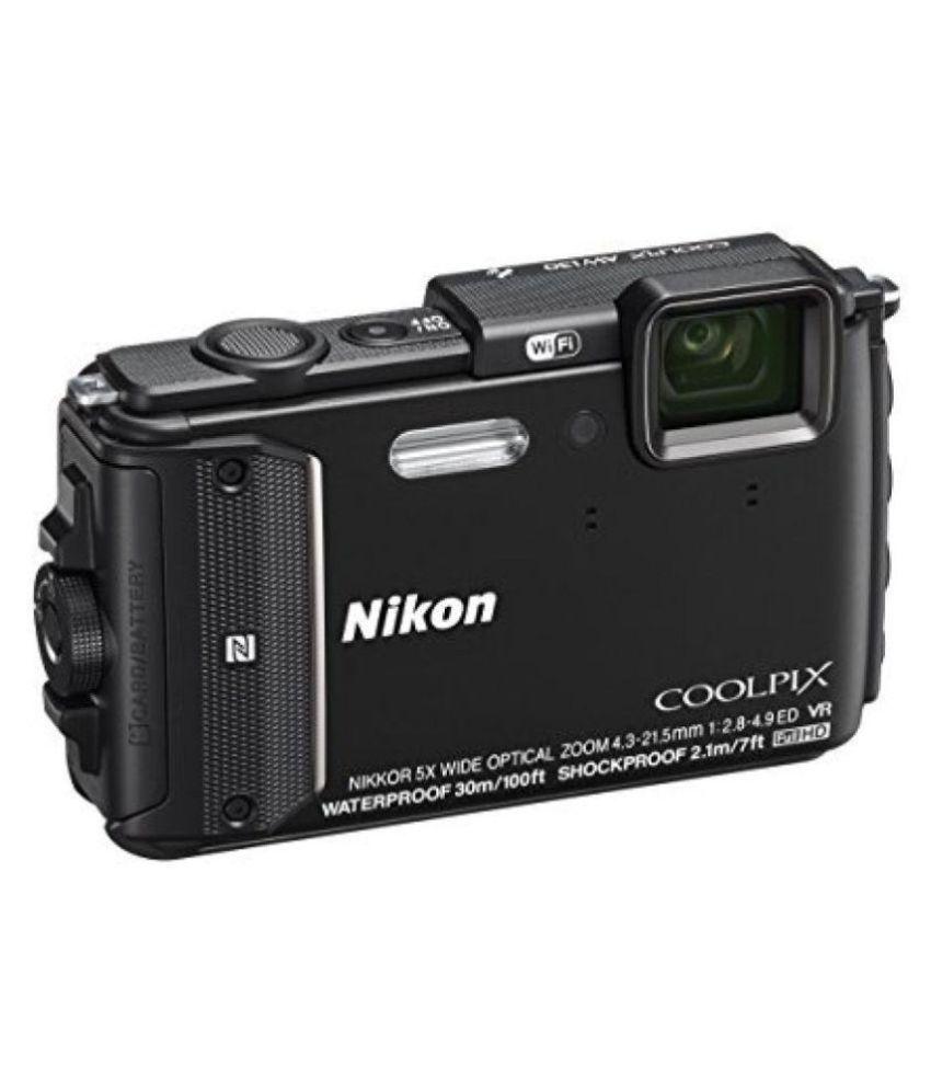 Nikon Coolpix W300  Black  Shockproof waterproof Advanced Point  amp; Shoot Camera  Black
