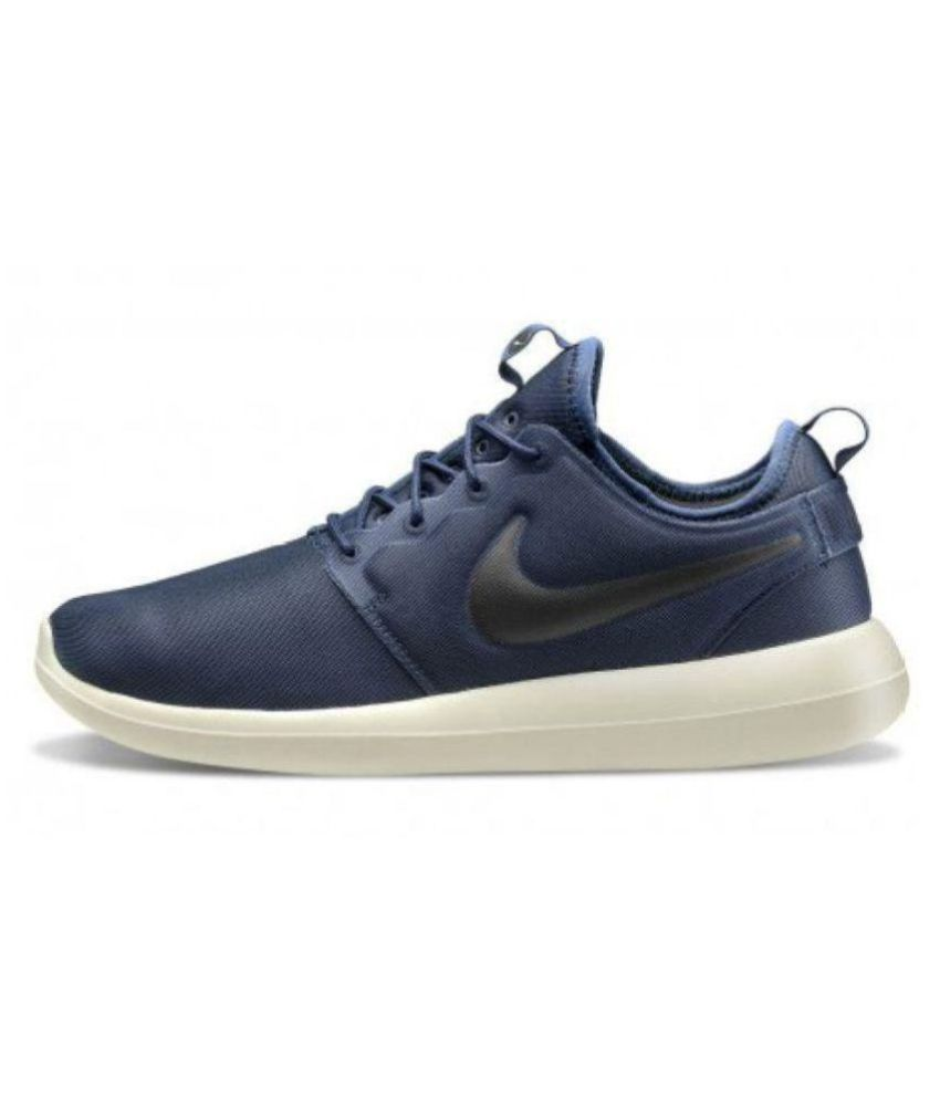 separation shoes acdab c574b Nike Roshe Two Navy Running Shoes - Buy Nike Roshe Two Navy Running Shoes  Online at Best Prices in India on Snapdeal