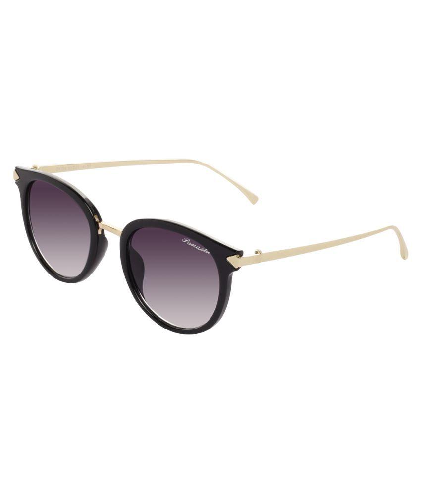Panache Grey Round Sunglasses ( PD1724_S1 )