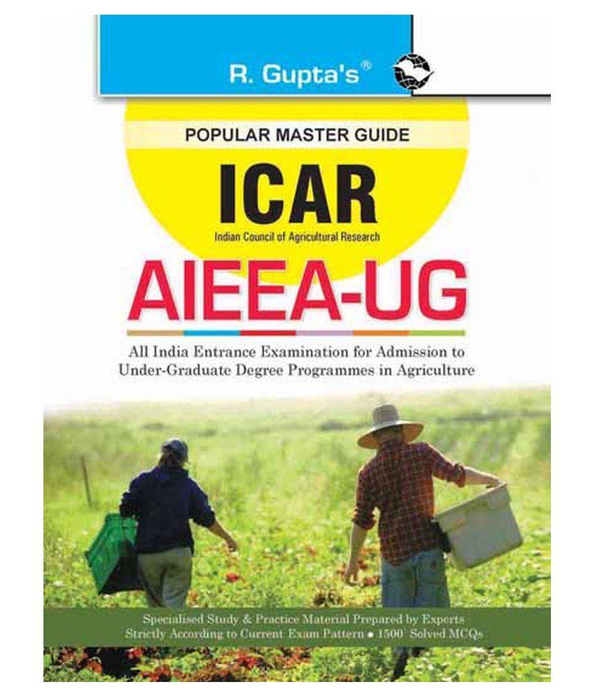icar aieea ug b sc agriculture entrance exam guide buy icar