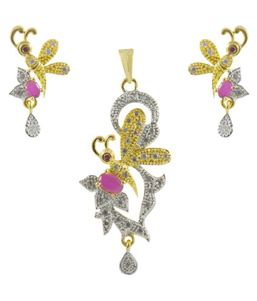 Rejewel Fascinating Pendant Set With Butterfly Design