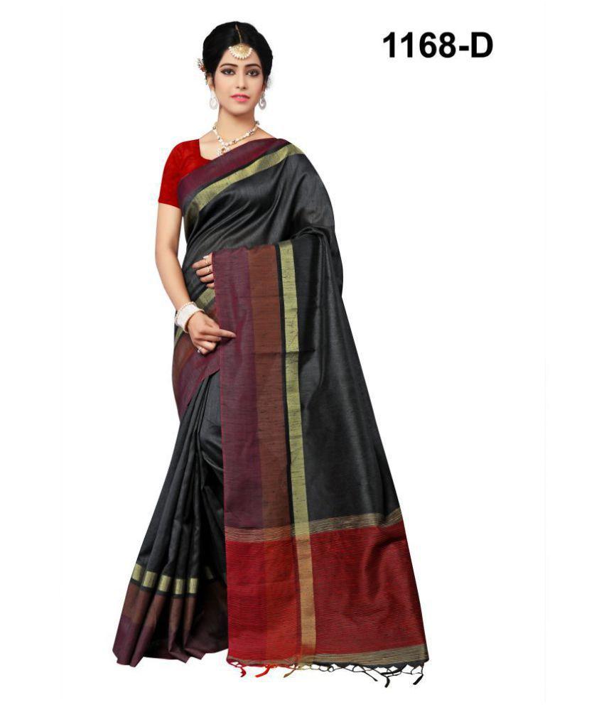 Urban India Black Bhagalpuri Silk Saree