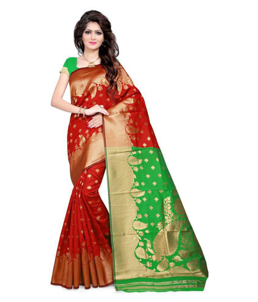 Urban India Multicoloured Silk Saree