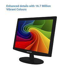 Adcom 38.1CM (15.1 Inch) 1510 High Pixel Full HD LED Monitor (Black)