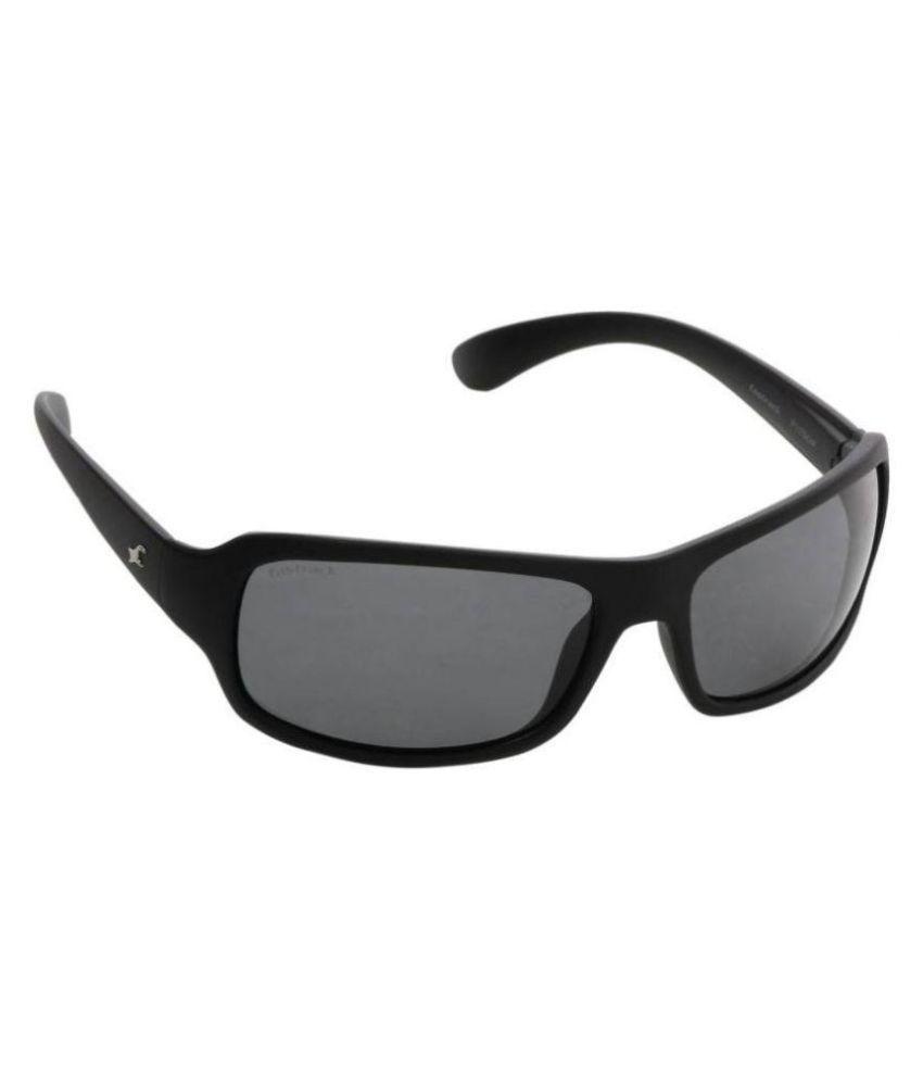 professional sale new authentic pretty cool Fastrack Black Wrap Around Sunglasses ( P117BK4P )