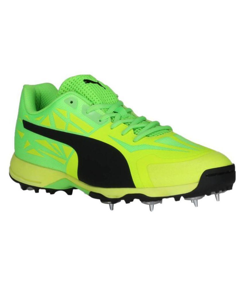 cb679fcddf5b2c Puma evoSPEED 1.5 Cricket Spike Green Cricket Shoes - Buy Puma evoSPEED 1.5  Cricket Spike Green Cricket Shoes Online at Best Prices in India on Snapdeal