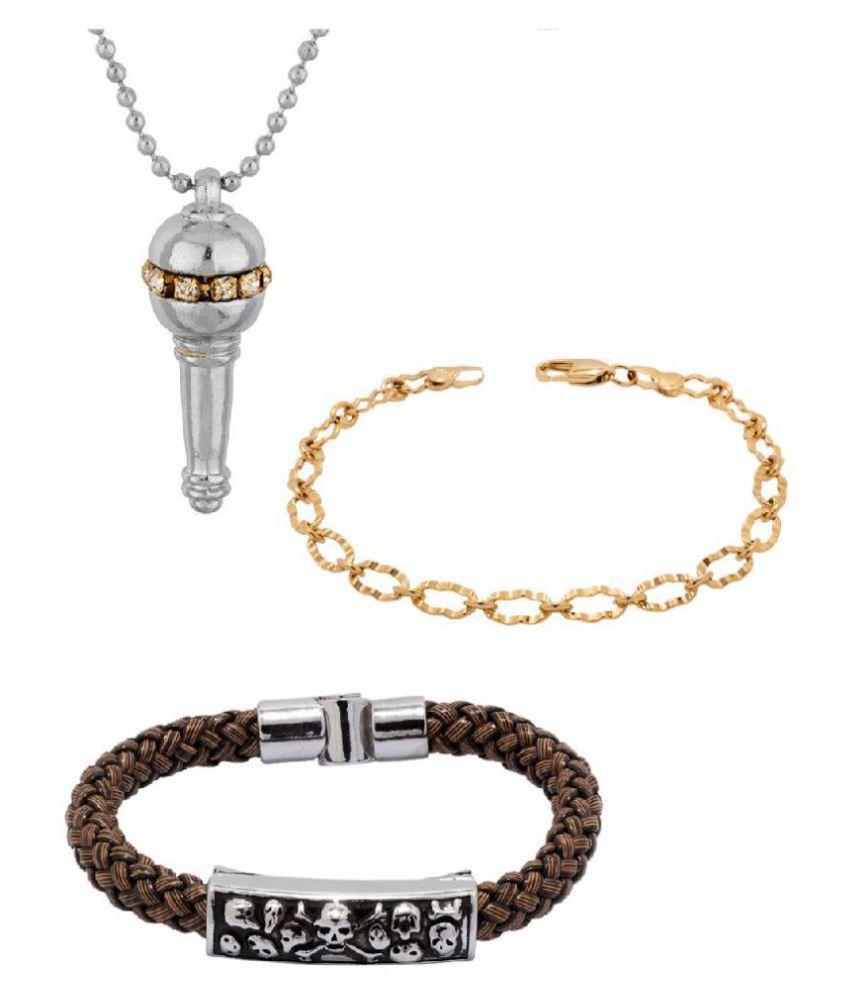 Voylla Designer Mix Combo Pack of Pendant and Bracelets