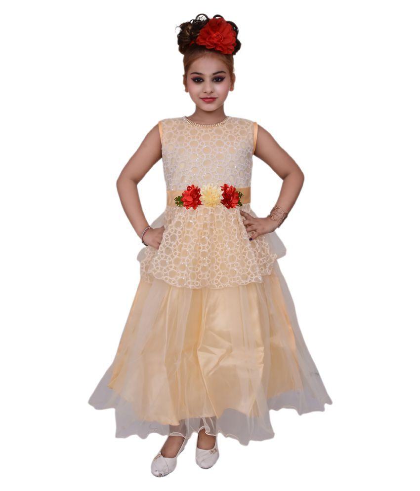 5238fd0ef2 valentine girls white   blue party wear gown girl dress - Buy valentine  girls white   blue party wear gown girl dress Online at Low Price - Snapdeal