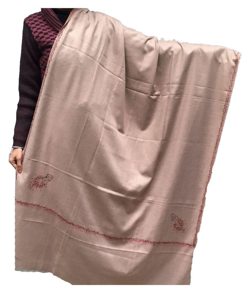Kashmiri Beige Crochet Shawl