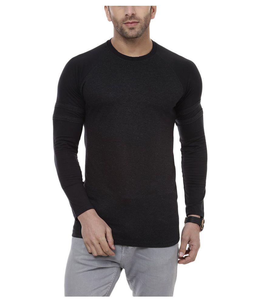CENIZAS Black Round T-Shirt