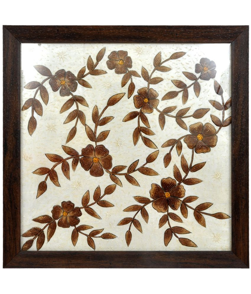 KTX The Flowers (Coffee Painting) Fabric Painting Without Frame