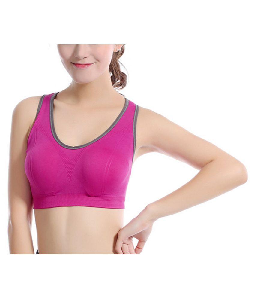 Secret Wear Nylon Sports Bra - Pink