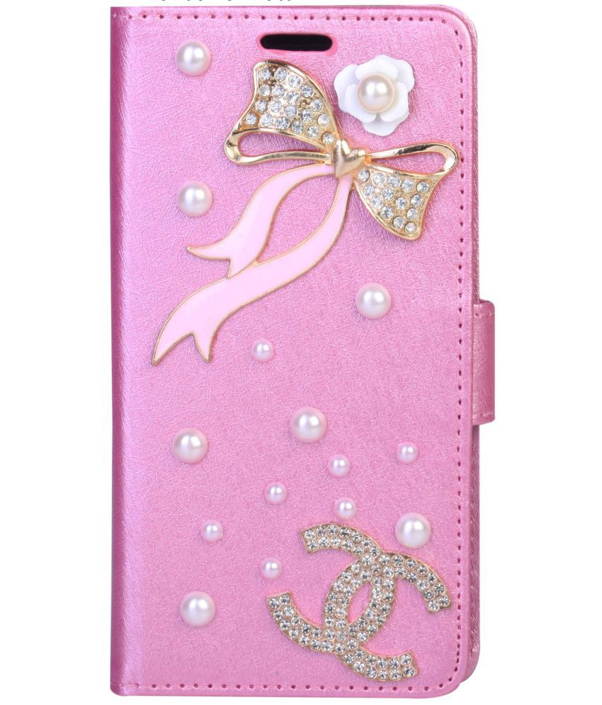 Samsung Galaxy On Nxt Flip Cover by aldine - Pink