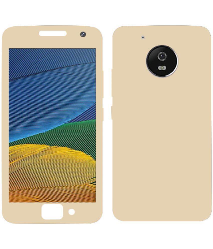 Motorola Moto E4 Plus Plain Cases Kosher Traders - Golden