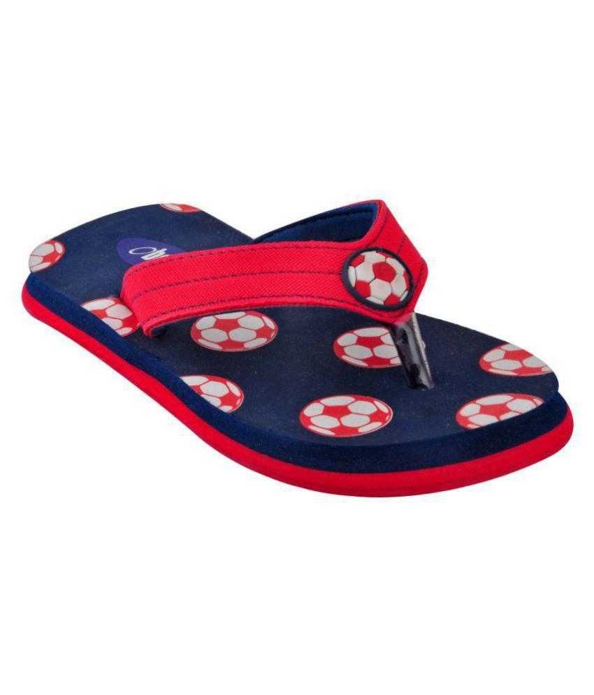 Beanz  Navy/Red Soft Comfy Beach/Homewear Flip Flop Kids Footwear
