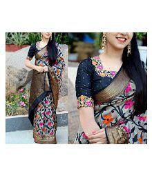 Mahadev Enterprises Multicoloured Bhagalpuri Silk Saree