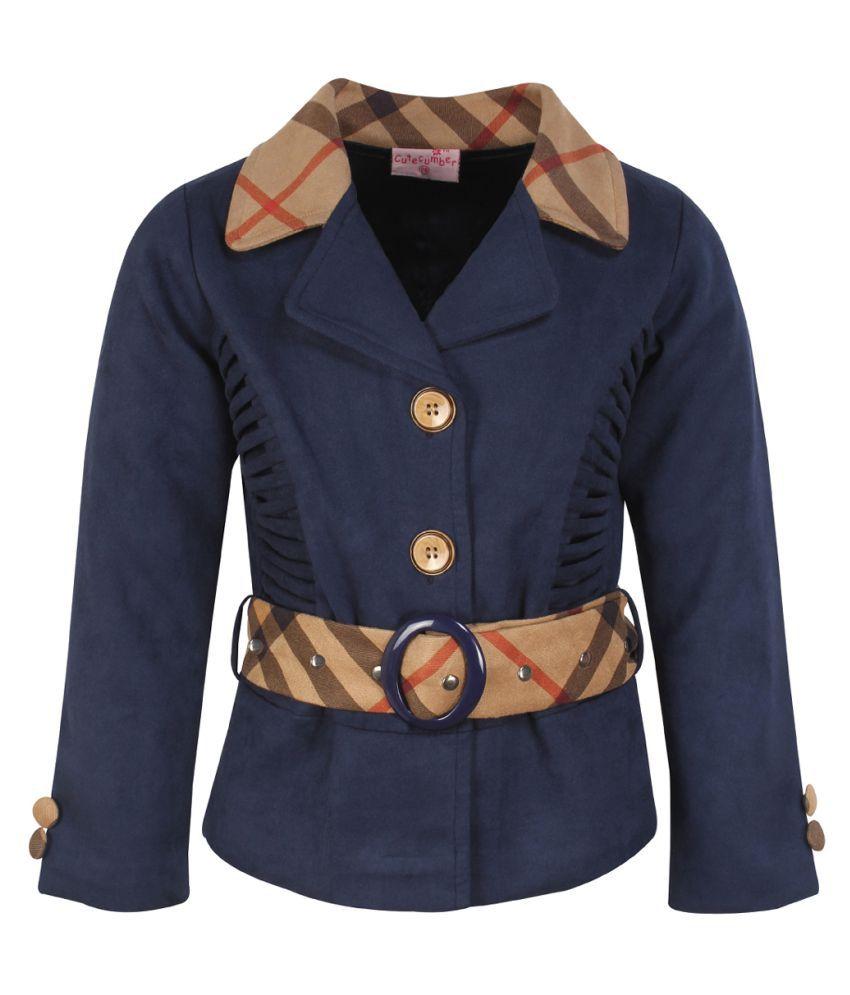 Cutecumber Girls Partywear Suede Coat