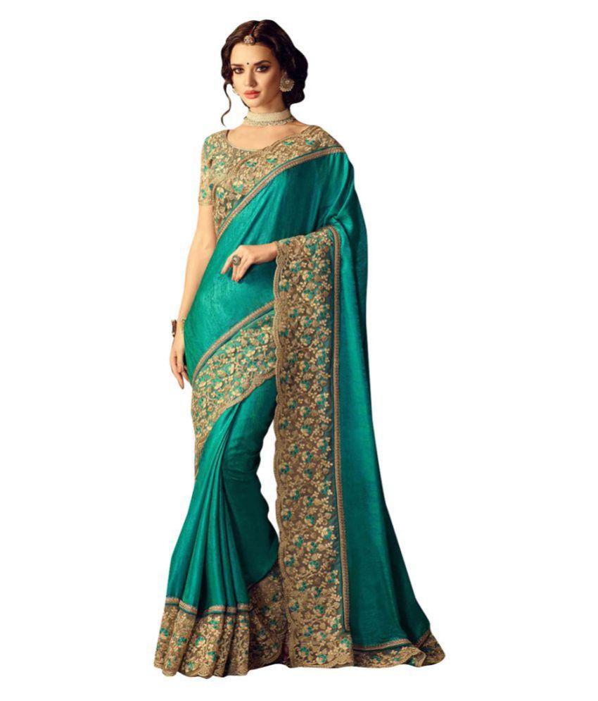PRAYOSHA ENTERPRISE Green Bhagalpuri Silk Saree