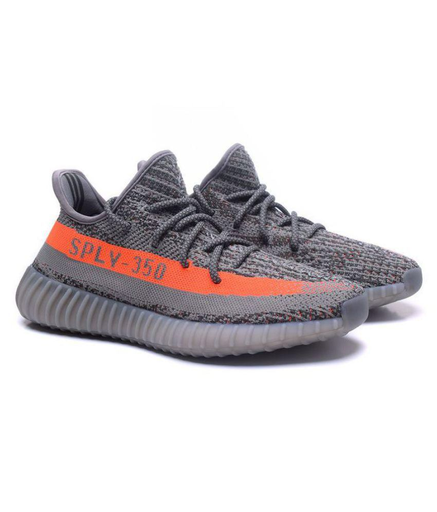 Adidas Yeezy Boost 350 SPLY V2 Gray Running Shoes - Buy Adidas Yeezy Boost 350 SPLY V2 Gray