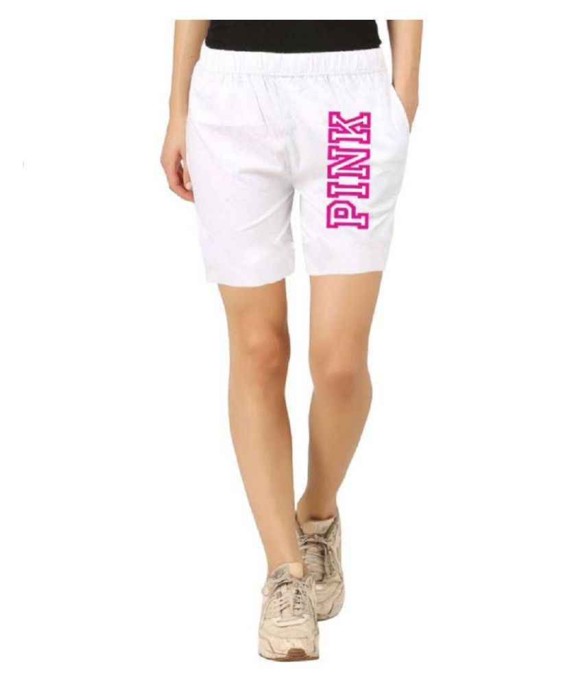 Hotfits Printed Women White Basic Shorts