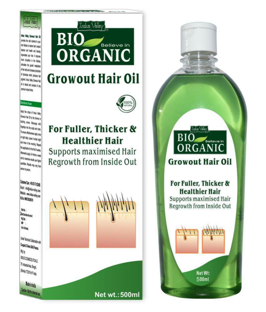 8981758e09 Indus Valley BIO Organic Growout Hair Oil For Regrowth Hair 500 ml: Buy  Indus Valley BIO Organic Growout Hair Oil For Regrowth Hair 500 ml at Best  Prices in ...