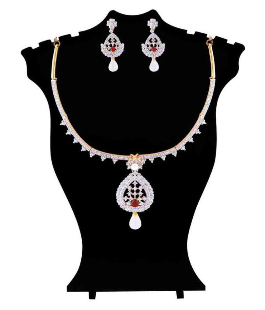 Jewlot AD Necklace Set for Women and Girls