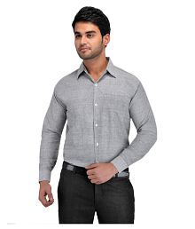 4da9a2ab35f Grey Color Formal Shirt  Buy Grey Color Formal Shirts Online at Low ...