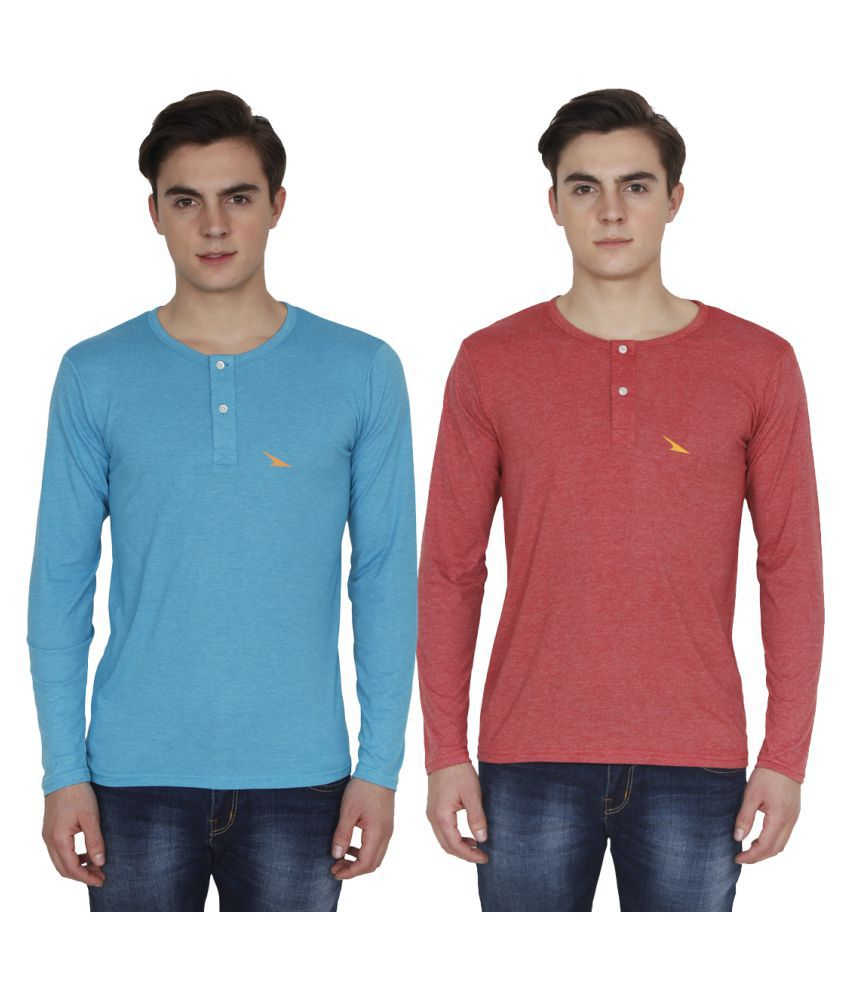 PRO Lapes Multi Henley T-Shirt Pack of 2