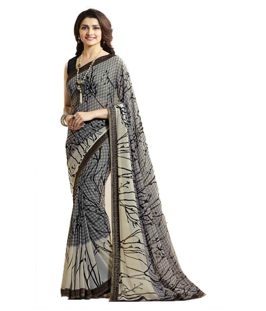buynbye Multicoloured Georgette Saree