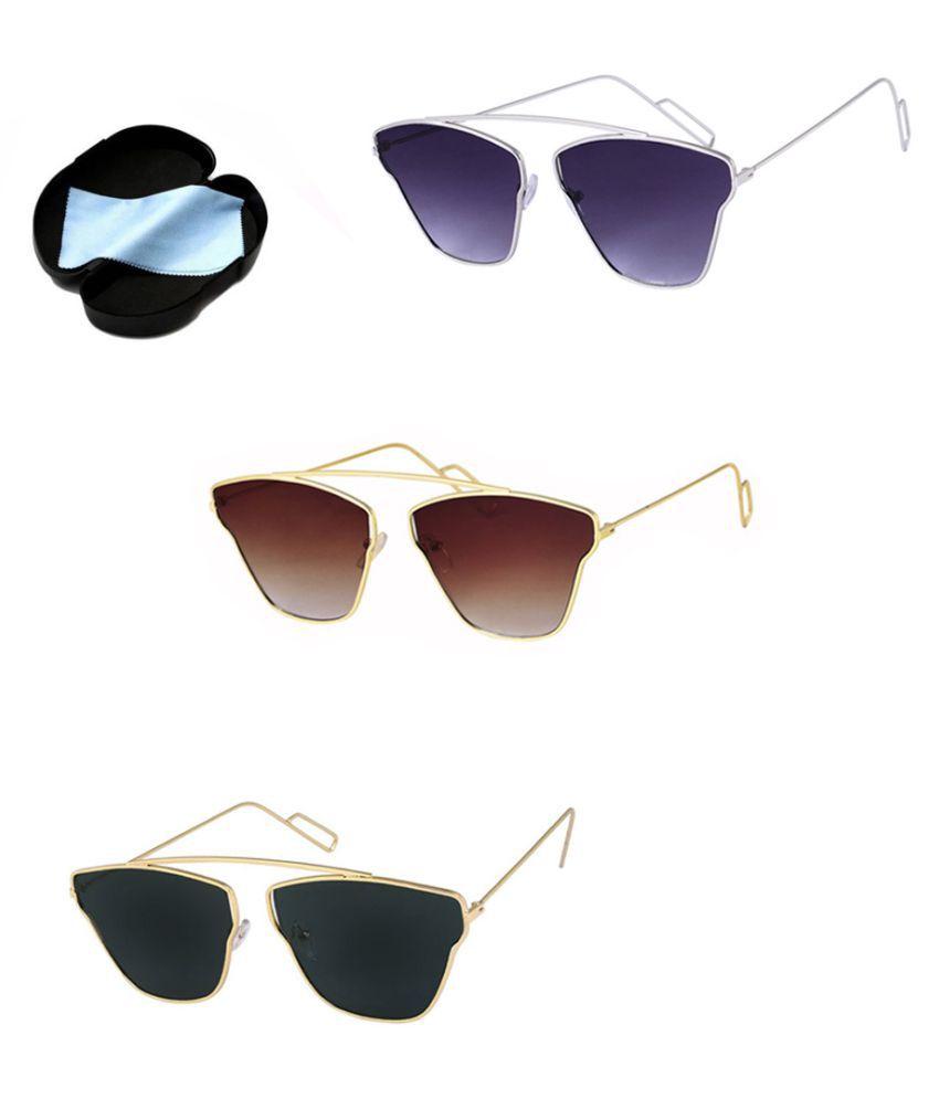 Lee Topper Black Aviator Sunglasses ( SAG-016 )