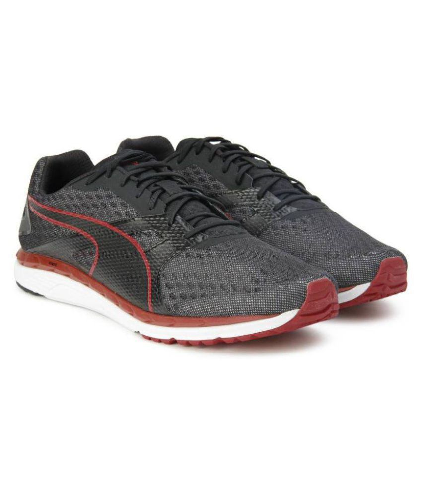 7446ea30481 Puma Men Speed 300 IGNITE 2 Black Running Shoes - Buy Puma Men Speed 300  IGNITE 2 Black Running Shoes Online at Best Prices in India on Snapdeal