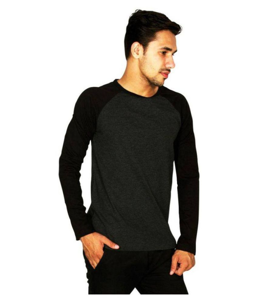Young Sports Black Round T-Shirt Pack of 1