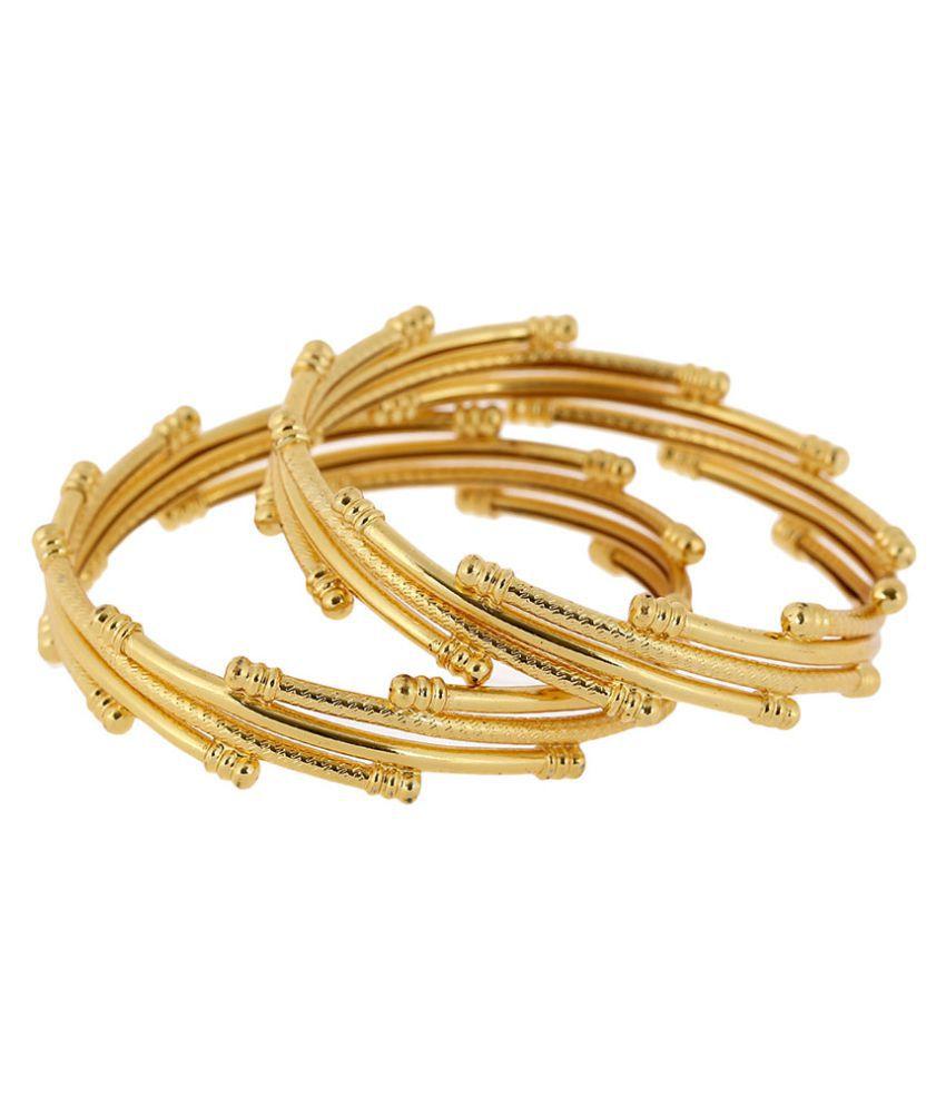 Zeneme Traditional Ethnic One Gram Gold Plated Designer Bangle for ...