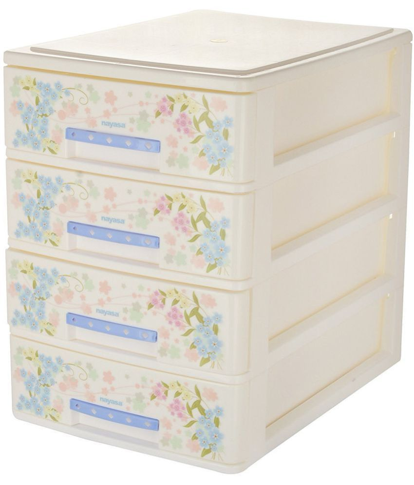 nayasa deluxe tuckins 14 plastic storage drawer 4 drawers white rh snapdeal com