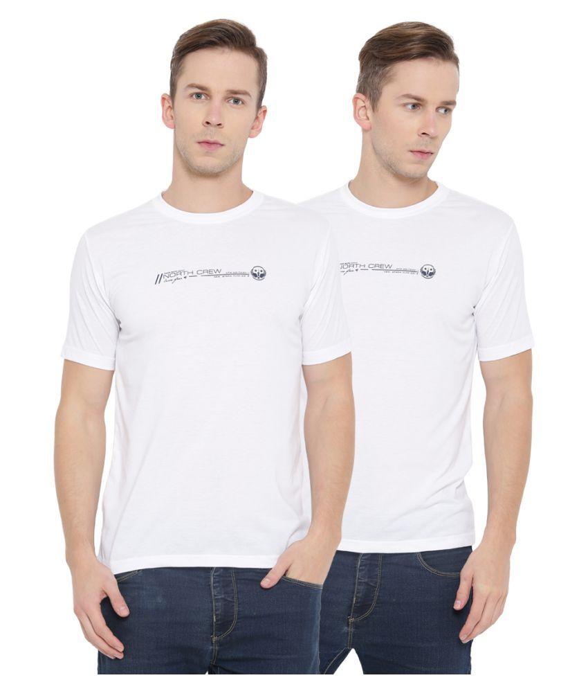 Neva White Round T-Shirt