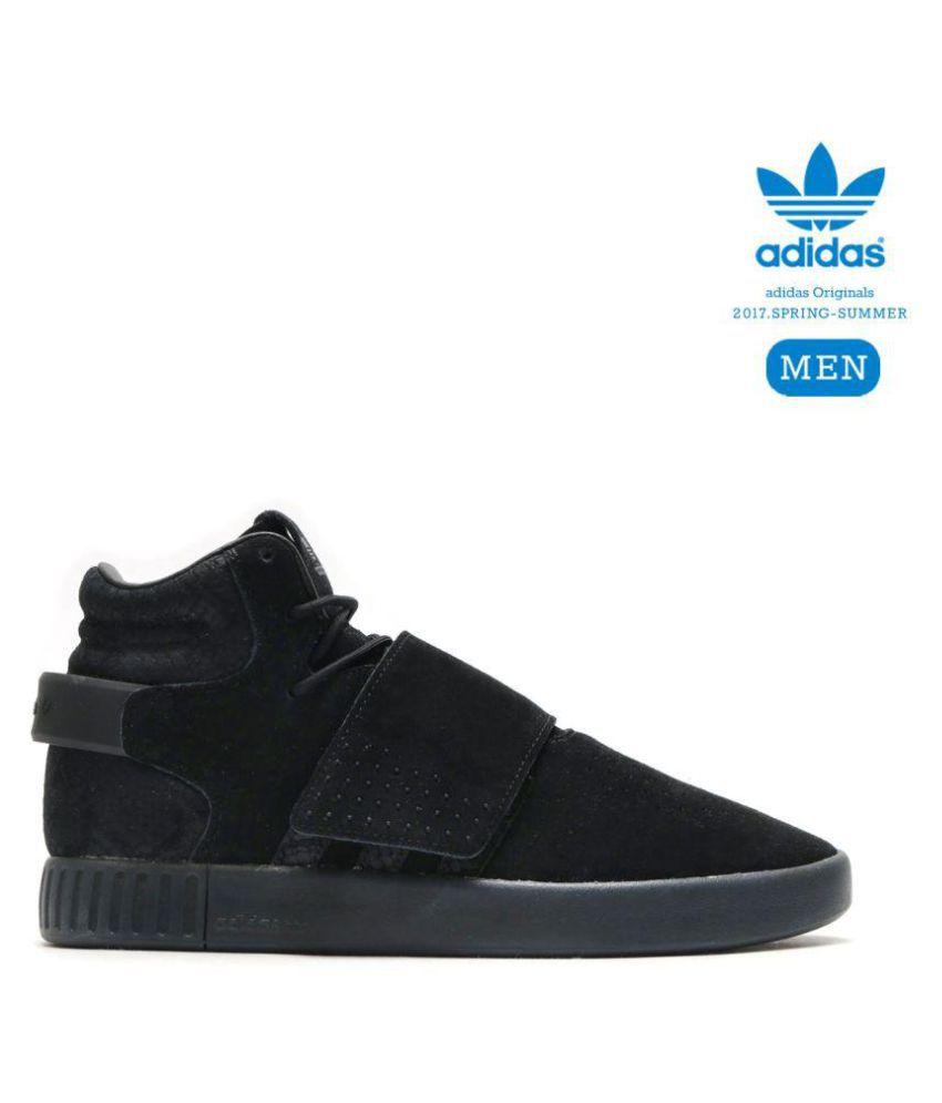 ebf982011 Adidas TUBULAR INVADER STRAP BOOST HIGH Black Running Shoes