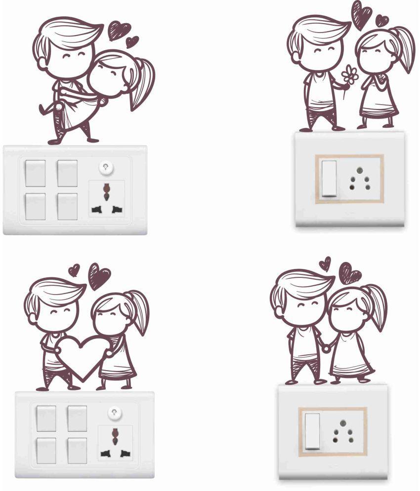 Decor kafe cute couple romance love romance love pvc 3d sticker buy decor kafe cute couple romance love romance love pvc 3d sticker online at best