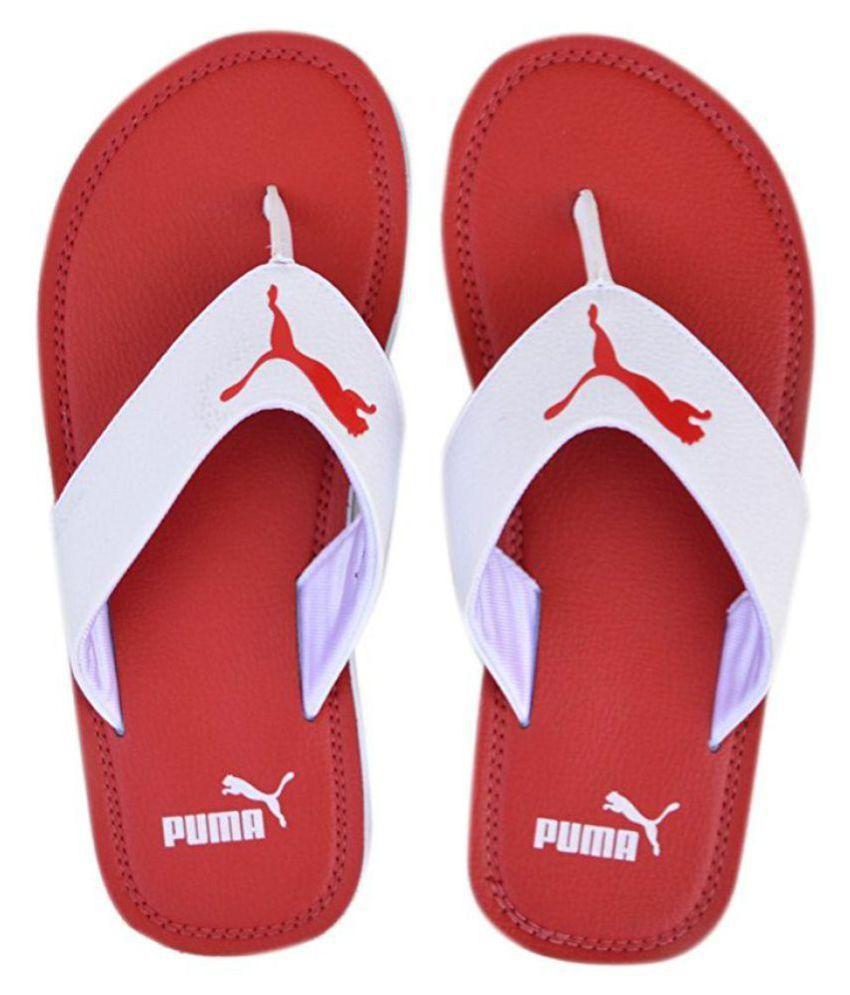 9d8ec0034ade Puma Men s Flash Cat Idp Hawaii Red Thong Flip Flop Price in India ...