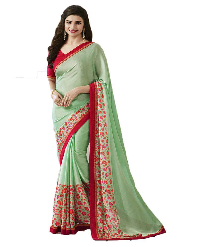 SareeShop Designer SareeS Green Chiffon Saree