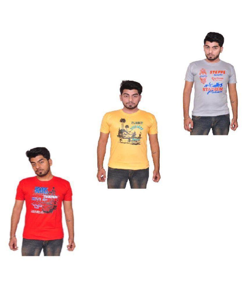 Pari & Prince Multi Round T-Shirt Pack of 3