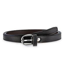 Verceys Black Faux Leather Casual Belt