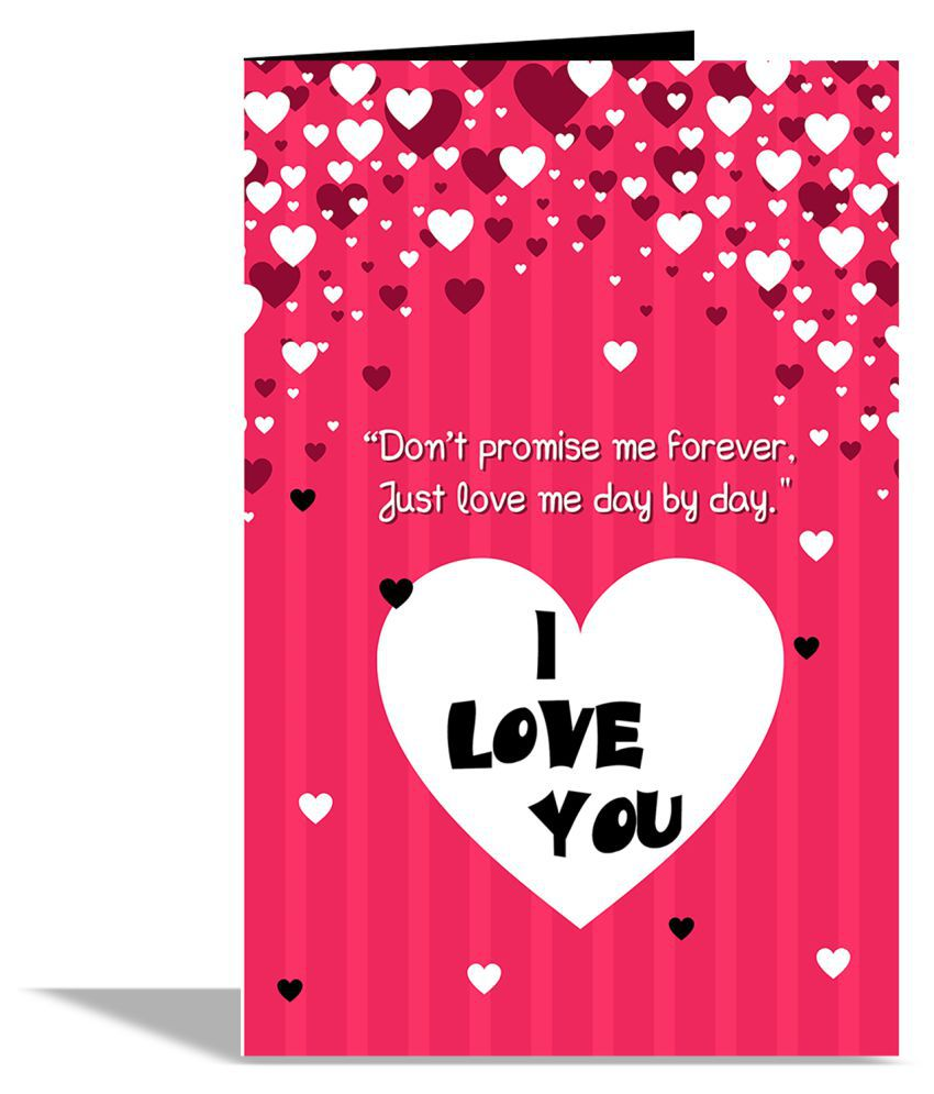 I Love U Valentines Day Greeting Card Buy Online At Best Price In