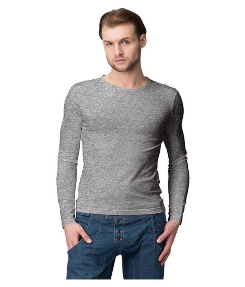 American-Elm Grey Round T-Shirt