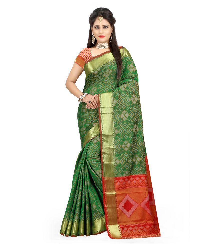 Saloni Designer Green Banarasi Silk Saree