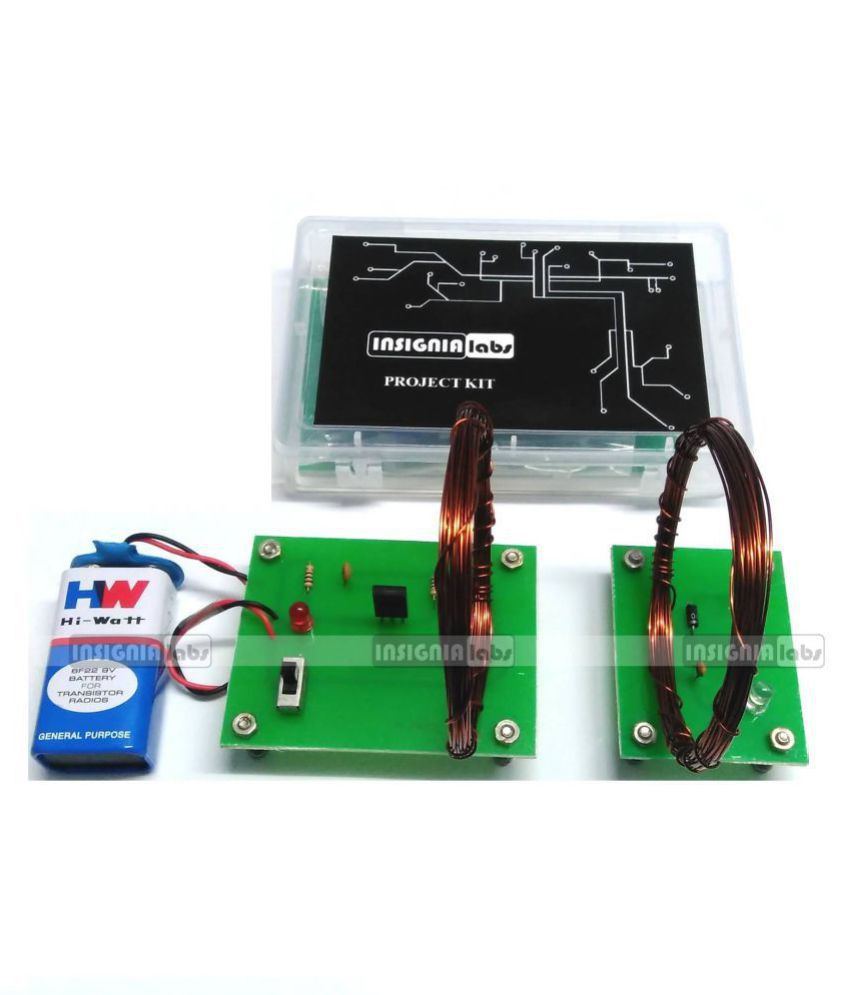 WIRELESS POWER TRANSFER/TRANSMISSION PROJECT KIT - ELECTRONIC SCHOOL  COLLEGE PROJECT