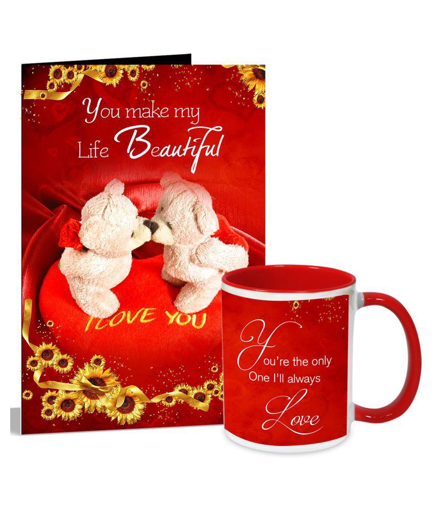 You Make My Life Beautiful Valentines Day Greeting Card Mug Hamper