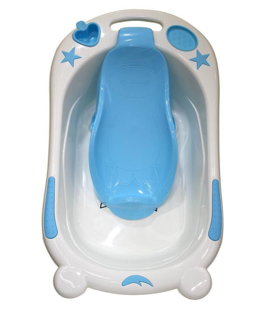 Born Babies Blue Plastic Baby Bath Tub: Buy Born Babies Blue Plastic ...